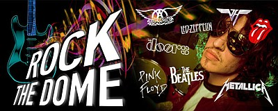 Promotional graphic for IMAX Rock the Dome