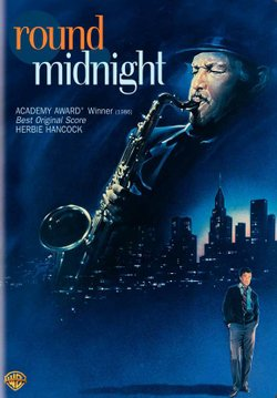 """Promotional graphic for the film, """"Round Midnight"""""""