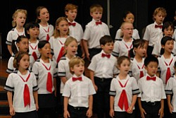 Promotional image of San Diego Children's Choir performing.