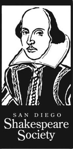 Graphical logo for the San Diego Shakespeare Society.