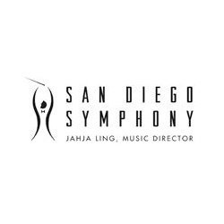 Graphical logo for San Diego Symphony.