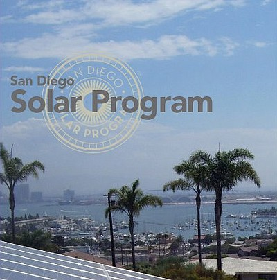 Promotional image of San Diego Solar Program.