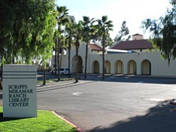 Exterior image of the Scripps Miramar Ranch Library Center