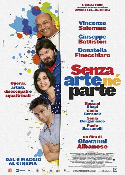 "Movie poster for the film, ""Senza arte ne parte"""