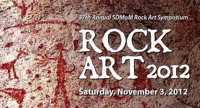 Promotional graphic for the Rock Art Symposium 2012 on November 3rd, 2012.