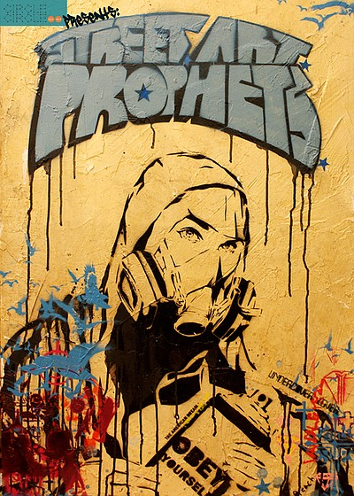 Promotional graphic for Street. Art. Prophets performing at the 10th Ave Theatre from November 29th-December 15th, 2012.