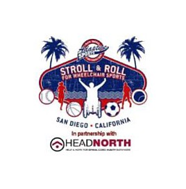 Promotional graphic for the 3rd Annual Stroll & Roll event for wheelchair sports
