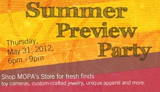 Promotional graphic for the Summer Preview Party. Courtesy of MOPA.