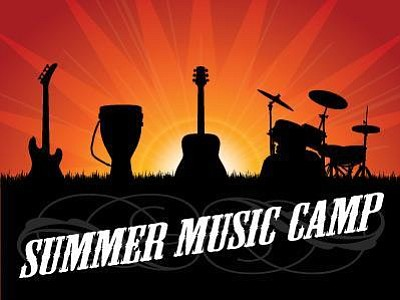 Promotional graphic for Summer Music Camp. Courtesy of th...