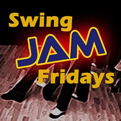 Graphic logo for Swing JAM Fridays