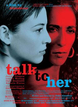 """Promotional graphic for the film, """"Talk to Her."""""""