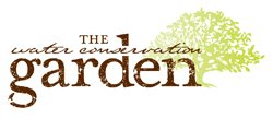 Promotional logo of Water Conservation Garden.