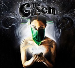 Graphic logo of musical artist The Green.