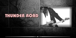 Promotional graphic of musical artist Thunder Road