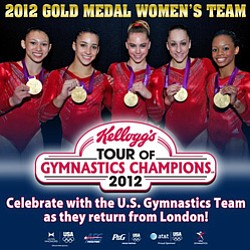 Promotional image for Kellogg's Tour Of Gymnastics Champions 2012.