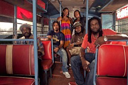 Photo of musical artists the Wailers.