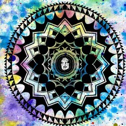 Promotional graphic for Sacred Geometry: Mandala Art on display at Bar Basic on March 19th, 2013. Courtesy of Thumbprint Gallery.