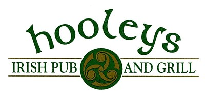 Graphic logo for Hooleys Irish Pub.