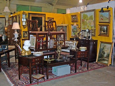 Promotional photo of antiques at the Del Mar Antique Show...