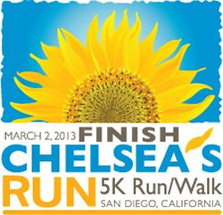 Graphic logo for Finish Chelsea's Run on March 2, 2013.