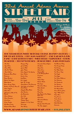 Promotional graphic for the 32nd Annual Adams Avenue Street Fair. Courtesy of the Adams Avenue Business Association.