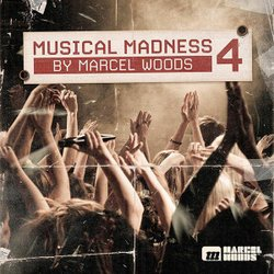 Promotional graphic for Music Madness 4 by Marcel Woods, who will be performing at the House of Blues San Diego on January 19th, 2013.