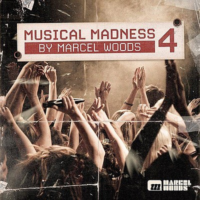 Promotional graphic for Music Madness 4 by Marcel Woods, ...