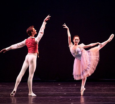 "YAGP participants, Hannah Bettes and Drew Nelson performing at YAGP's ""Ballet Grand Prix"" Tour in New Bedford, MA. Photo by Liza Voll Photography."