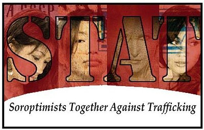 Promotional graphic for STAT! Soroptimists Together Against Trafficking. Courtesy to STAT!