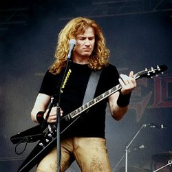Promotional graphic for Dave Mustaine.