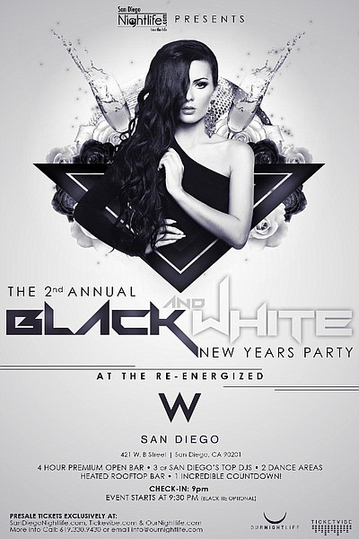 Promotional flyer for 2nd annual 2014 black white new