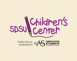 Graphic image for the San Diego State University's Children Center.
