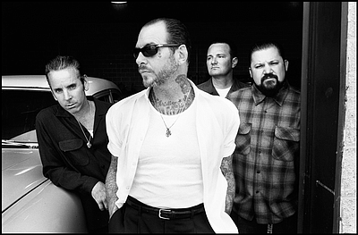 Photo of Social Distortion who will be performing at the House of Blues San Diego on January 15th, 2013. Courtesy to Social Distortion.