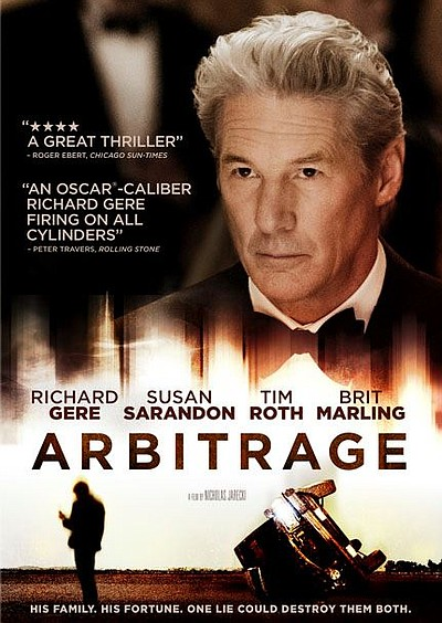 "Promotional graphic for the film, ""Arbitrage."""