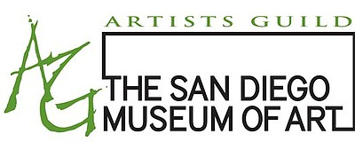 Graphic logo for the San Diego Museum of Art Artists Guild, who will be presenting En Plein-Air, A Charles Reiffel Tribute from February 20, 2013 -April 6th, 2013.
