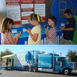 Promotional graphic for the Digital Bookmobile National Tour Event at the Escondido Public Library on February 27th & 28th, 2013.