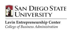 Graphic logo for the SDSU Lavin Entrepreneurship Center, School of Business Administration.