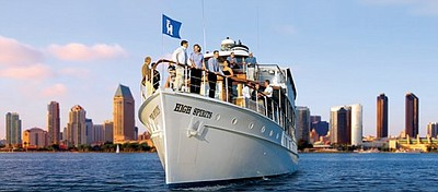 Promotional graphic for Hornblower Cruises & Events.