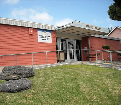 Exterior image of the Paradise Hills Branch Library.