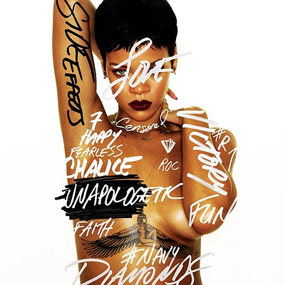 Image of Rihanna, who will be performing at the  Valley View Casino Center on April 11th, 2013.