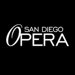 Graphic logo of the San Diego Opera.