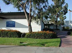 Exterior photo of the Allied Gardens/Benjamin Library: 5188 Zion Ave, San Diego CA 92120.
