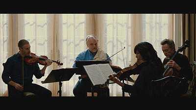 "Image from the film, ""A late Quartet"""