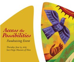 Promotional graphic for the Access The Possibilities' Fundraising Event on Thursday, June 13, 2013. Courtesy of Access To Independence
