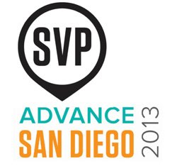 Graphic logo for Advance San Diego 2013 on October 9, 2013. Courtesy image of Advance San Diego.