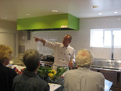 Image of people attending a previous cooking class at the La Jolla Community Center. Courtesy of the La Jolla Community Center