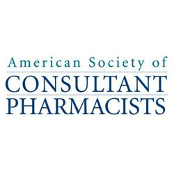 Promotional logo for American Society Consultant Pharmacists.