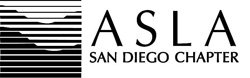 Graphic logo of American Society of Landscape Architects San Diego.