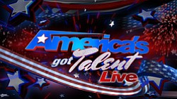 Graphic logo for America's Got Talent Live!