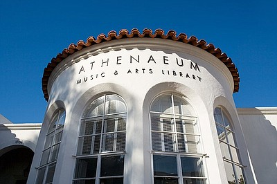 Exterior image of the Athenaeum Music & Arts Library.